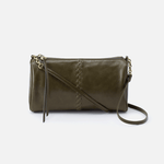 Topaz Green Leather Crossbody