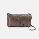 Topaz Grey Leather Crossbody