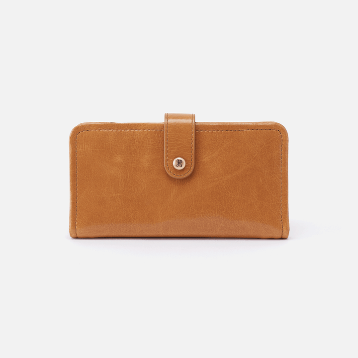 Torch Cognac Brown Leather Small Wallet