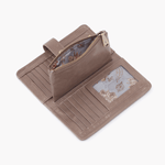 Torch Grey Taupe Leather Small Wallet