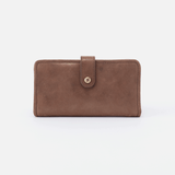 Torch Metallic Brown Leather Small Wallet