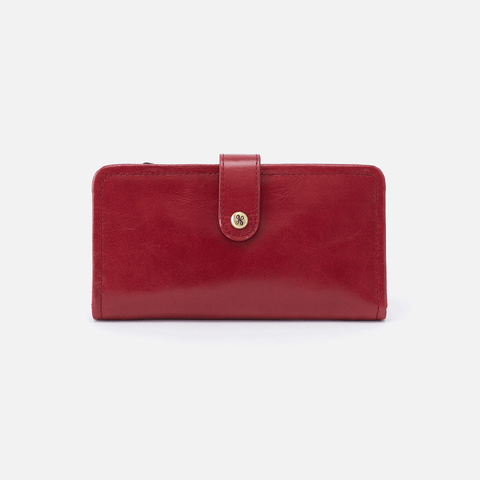 Torch Red Leather Small Wallet