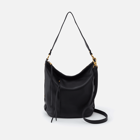Torin Black Leather Crossbody