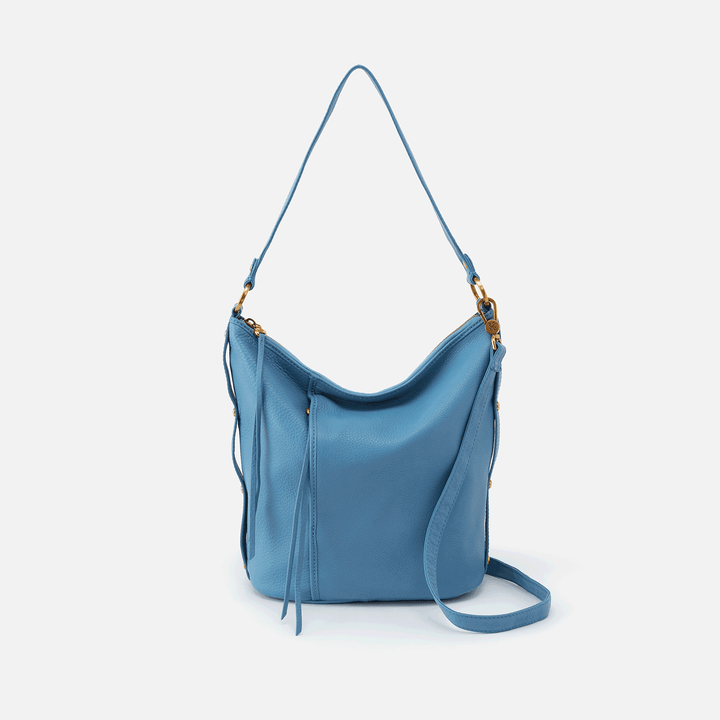 Torin Dusty Blue Leather Crossbody
