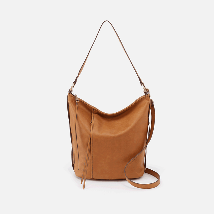 Torin Cognac Brown Leather Crossbody & Shoulder Bag