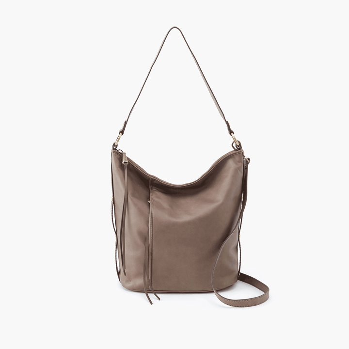 Torin Grey Taupe Leather Crossbody Shoulder Bag