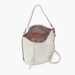 Torin White Leather Crossbody Shoulder Bag