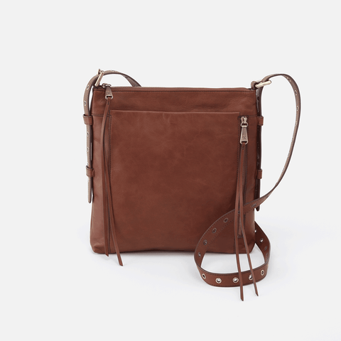 Treaty Brown Leather Crossbody