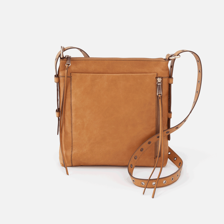 Treaty Cognac Brown Leather Crossbody