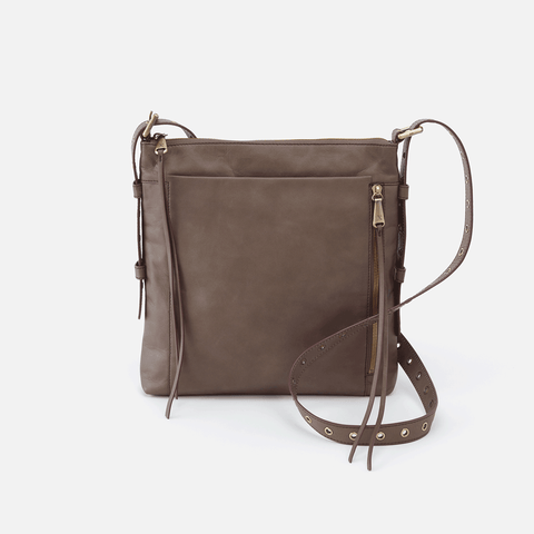 Treaty Grey Leather Crossbody