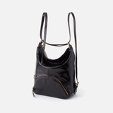 Verse Black Leather Backpack