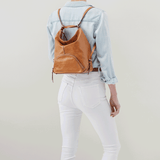 Verse Honey Leather Backpack