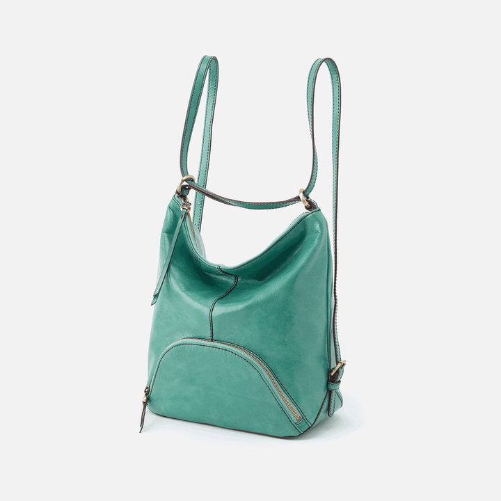 Verse Seafoam Leather Backpack