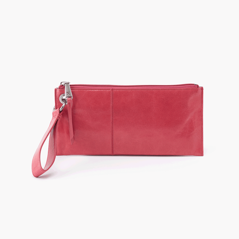 Vida Pink Leather Clutch Wristlet