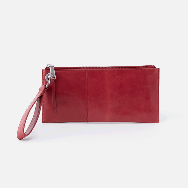 Vida Red Leather Clutch-Wristlet