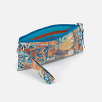 Vida Summertime Abstract Leather Wristlet