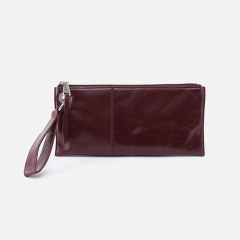 Vida Purple Leather Wristlet