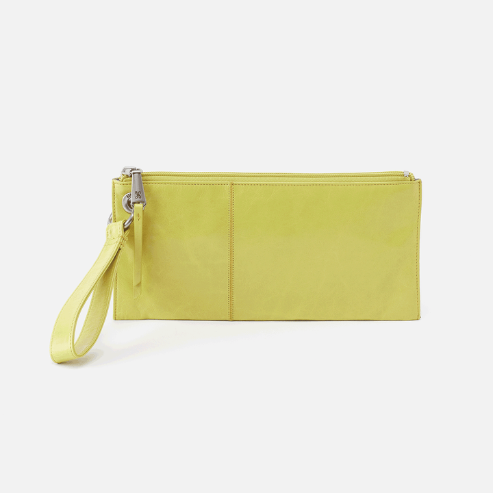 Vida Lemongrass Leather Wristlet