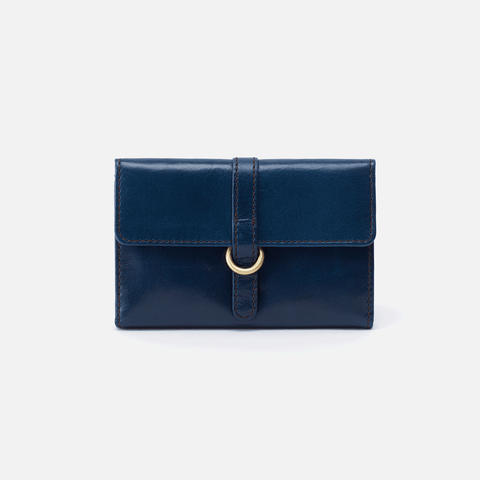 Vinn Blue Leather Small Wallet