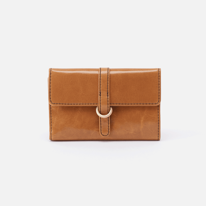 Vinn Cognac Brown Leather Small Wallet