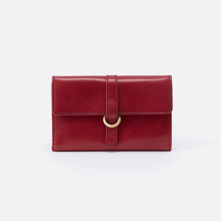 Vinn Red Leather Small Wallet