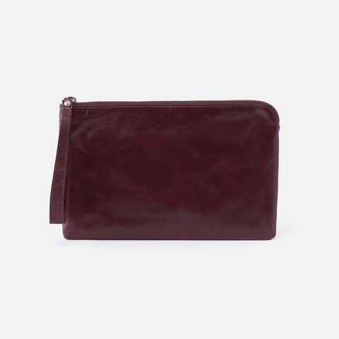 Wayfare Purple Leather Wristlet Clutch