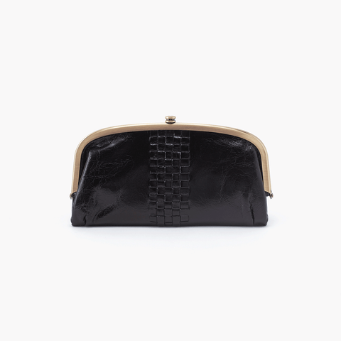 Weave Black Leather Large Wallet