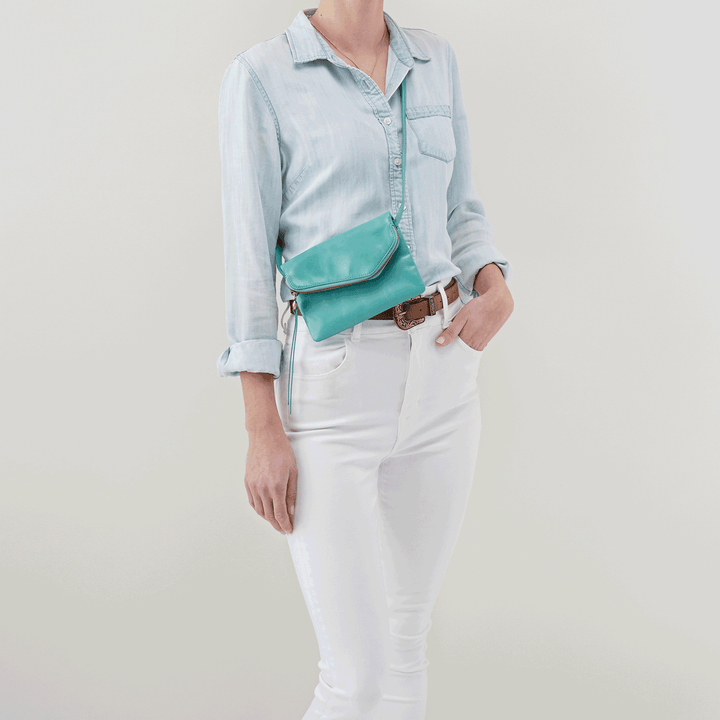Wink Seafoam Leather Belt Bag