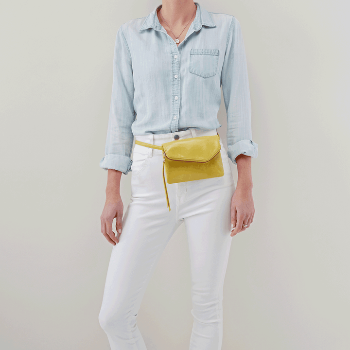 Wink Lemongrass Leather Belt Bag