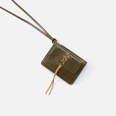 Wish Green Leather ID Card Bag Charm