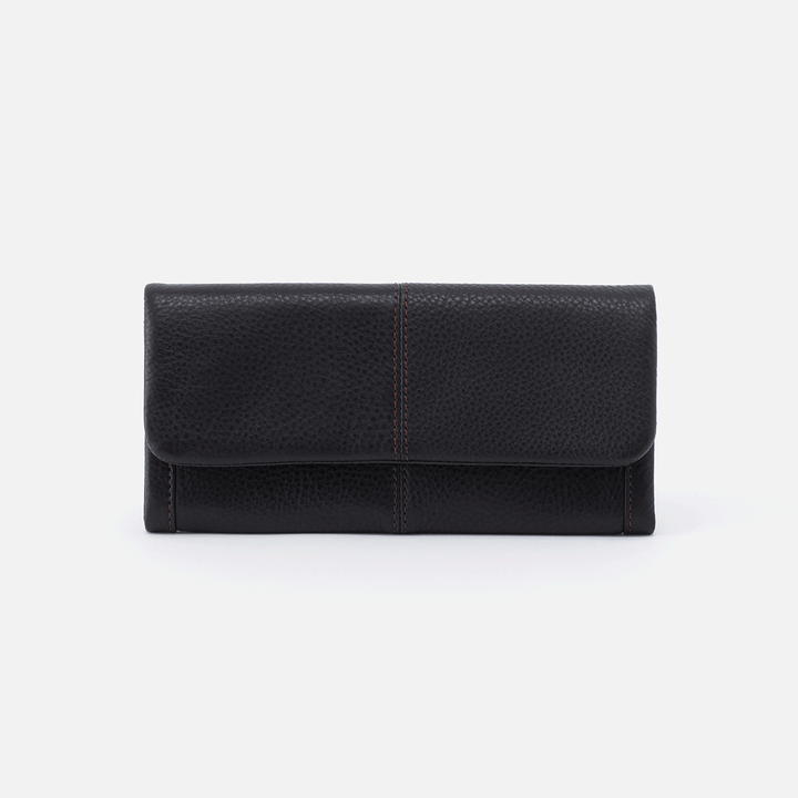 Black Wonder Wallet  Hobo  Velvet Pebbled Leather