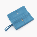 Wonder Blue Leather Large Wallet