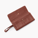 Toffee Wonder Wallet Hobo  Velvet Pebbled Leather