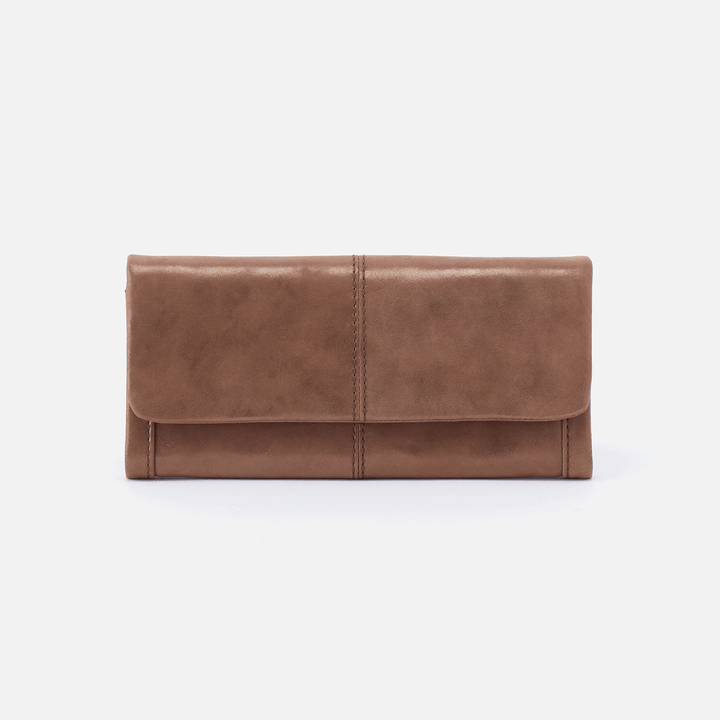 Wonder Metallic Brown Leather Large Wallet