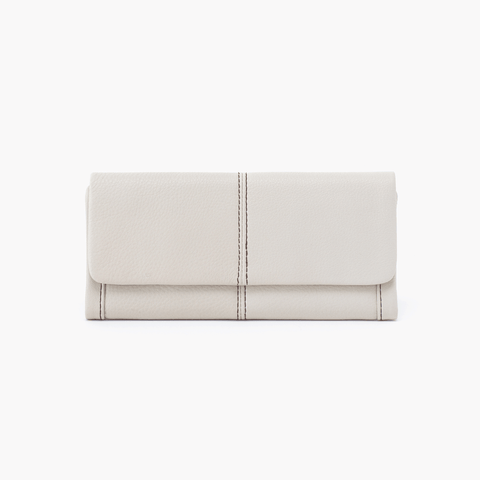 Wonder White Leather Large Wallet
