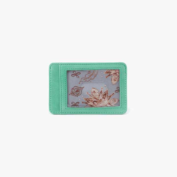Works Light Green Leather Credit Card Wallet