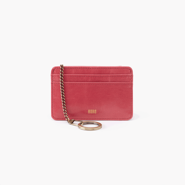 Works Pink Leather Credit Card Wallet