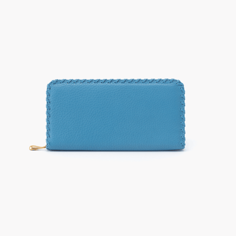 Wynn Blue Leather Large Wallet