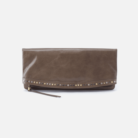 Zeal Grey Leather Clutch