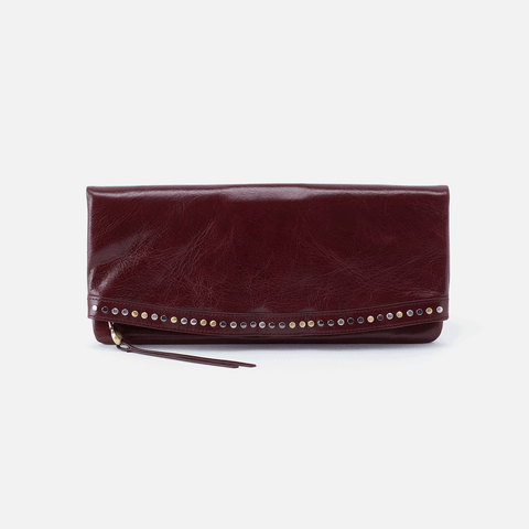 Zeal Purple Leather Clutch