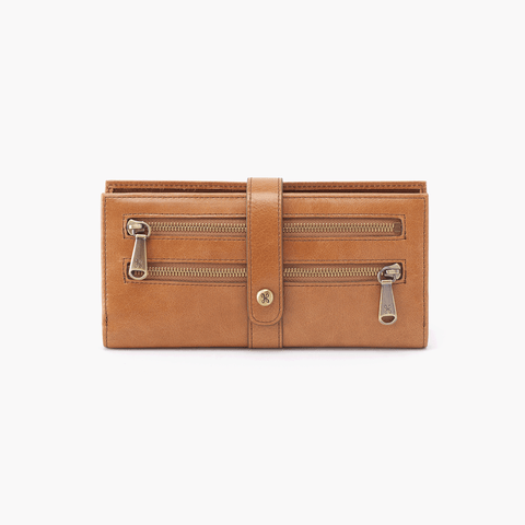 Zenith Cognac Brown Leather Large Wallet