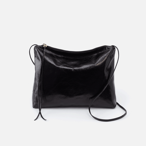Ziggy Black Leather Crossbody