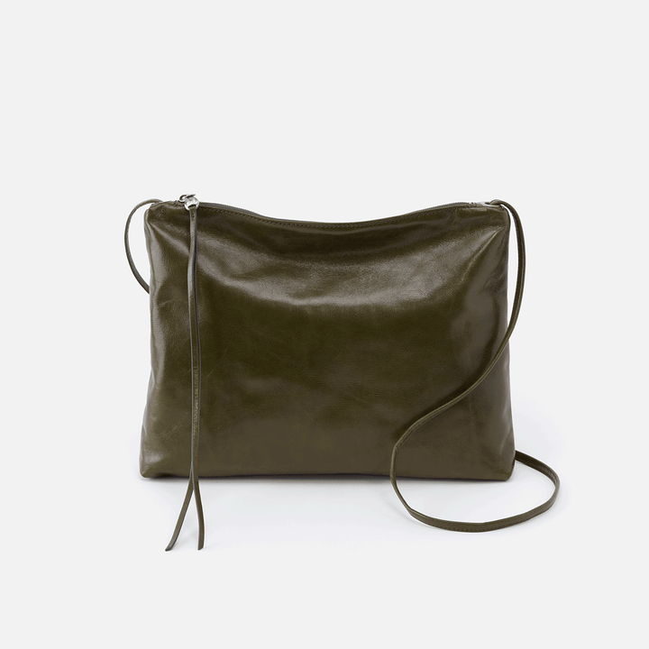 Ziggy Green Leather Crossbody