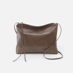 Ziggy Grey Leather Crossbody
