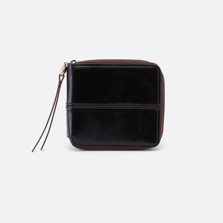 Zippy Black Leather Wallet