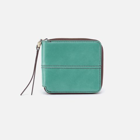 Zippy Seafoam Leather Wallet