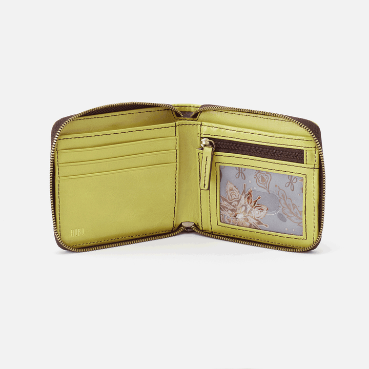 Zippy Lemongrass Leather Wallet