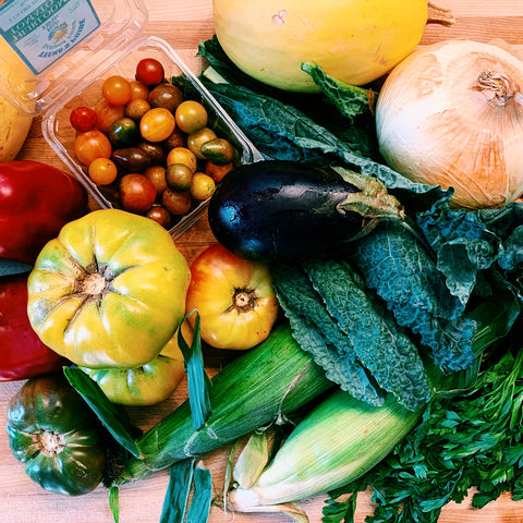 Bright, beautiful vegetables from Teena's Pride