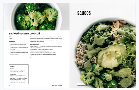 inside page of the della bowls at home digital cookbook