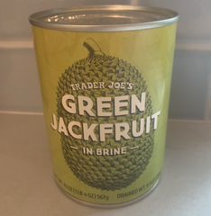 Can of jackfruit from Trader Joe's